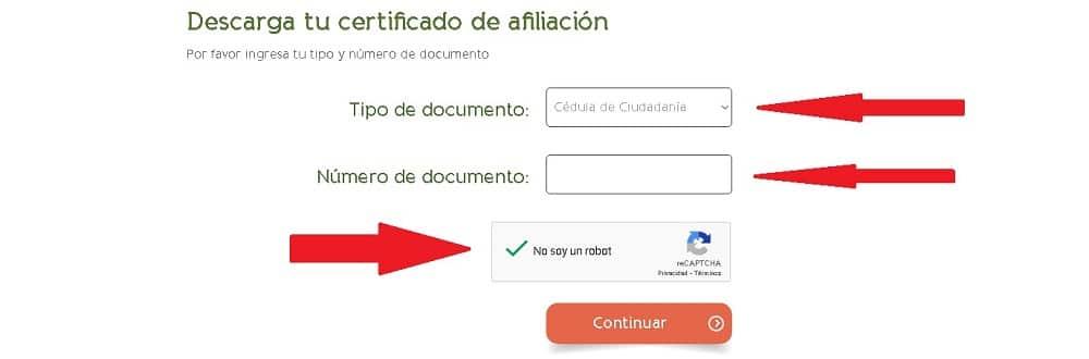 certificado de porvenir