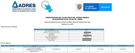 consultar afiliacion salud colombia
