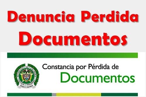 denuncia documentos perdidos