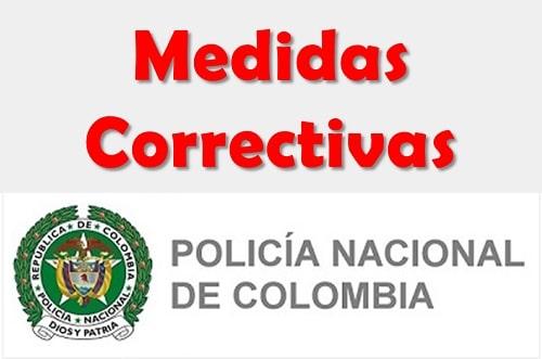 policia medidas correctivas